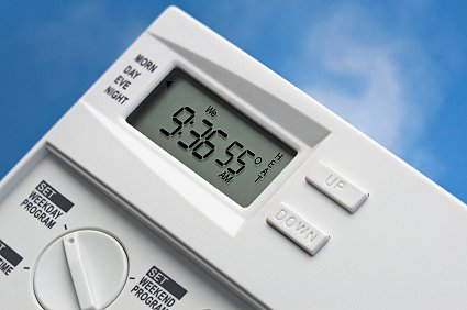 The times that both heating and hot water are on can be controlled by a central heating programmer.