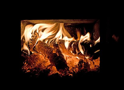 Logs or wood pellets are used to fuel wood central heating systems